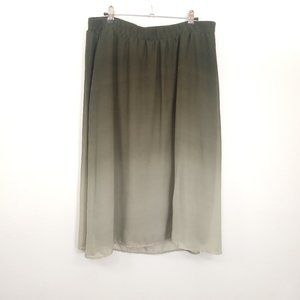 Old Navy Olive Army Green Ombre A-Line Midi Skirt